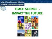 Teach Science- Impact The Future