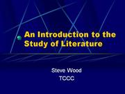 113 Introduction to Literature
