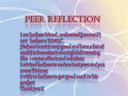 Peer reflection