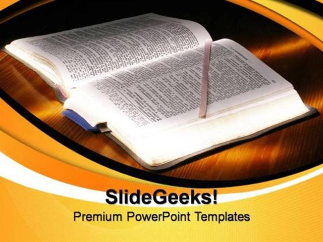 Christmas Bible Lessons Christian Ppt Template Powerpoint Template