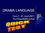 DRAMA LANGUAGE TEST 001