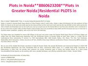 book plots in noida**8860623208**plots in greater noida|residential pl
