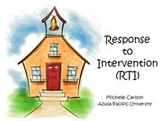 Response to intervention presentation