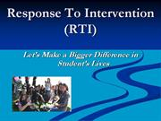 Response To Intervention (RTI) Power Point