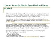 transfer music from ipod to itunes on mac