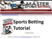 Sports Betting Tutorial