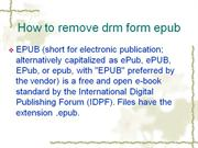 How to remove drm from epub