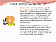 taste the best wines in napa wine tour