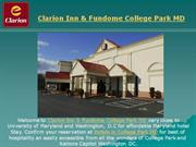 clarion inn college park md
