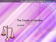 Scales of Justice Microsoft PowerPoint Template