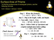 Area of Prisms 1