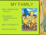 MY FAMILY (Simpsons)power point