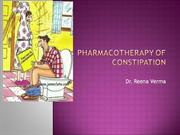 constipation -pharmacotherapy