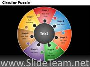 7 Staged Puzzle Circular Diagram