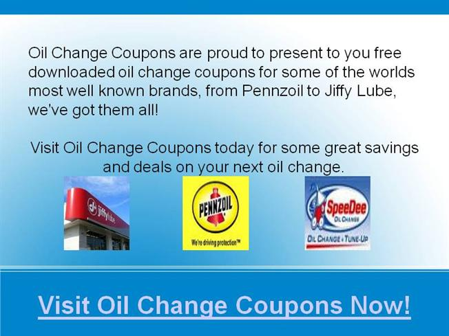 Deals On Oil Changes >> Oil Change Coupons Deals Authorstream