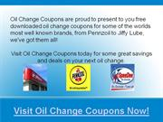 oil change coupons deals