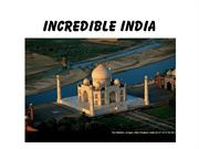 Incredible India PPT Route
