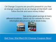 wal mart oil change coupons