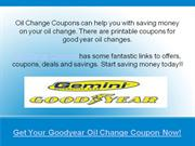 goodyear oil change coupons and deals