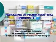 packaging in pharmaceuticals-jayprakash nogaja