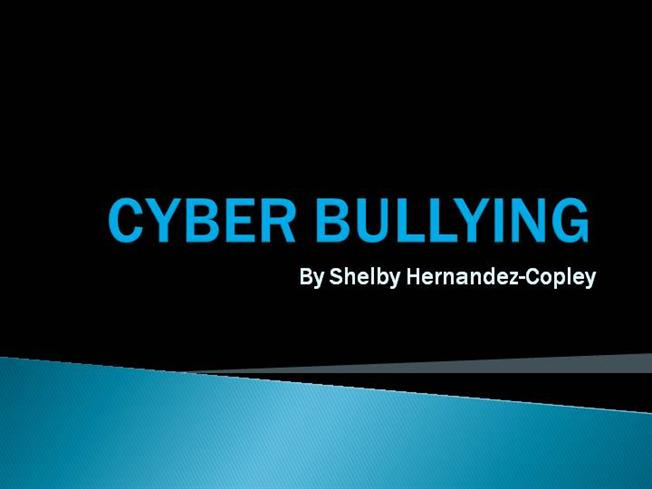 Cyber bullying powerpoint shelby hz authorstream toneelgroepblik Images