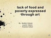 lack of food due to poverty expressed through art