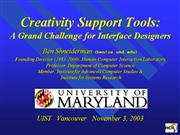 Creativity Support tools