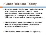 Human Relations Approach