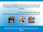 quick lube oil change coupons