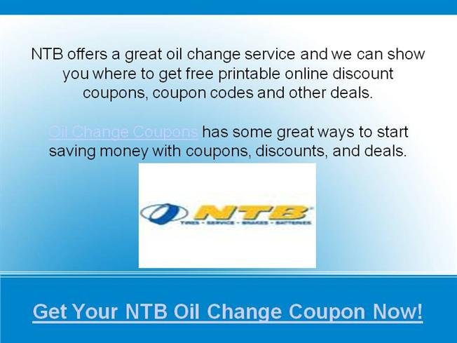 Ntb Oil Change Coupons Authorstream