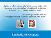 synthetic oil coupons and deals