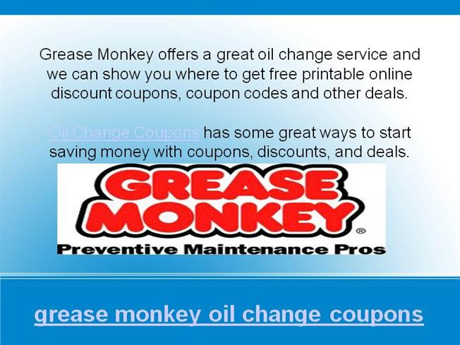 photo relating to Grease Monkey Coupons Printable known as Grease Monkey Oil Difference Discount coupons And Promotions authorSTREAM