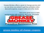 grease monkey oil change coupons and deals