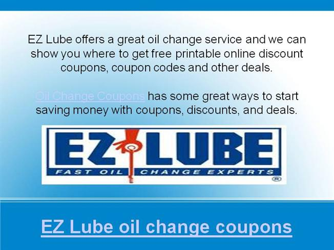 Oil Change Deals Near Me >> Ez Lube Oil Change Coupons Authorstream