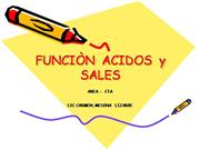 funcion sales y acidos