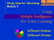 3 - Multiple Intelligence for Learning