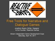Free Tools for Narrative and Dialogue Games