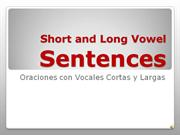 Short-Long Vowel Sentences