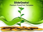 NATURE MONEY PLANT GROWTH BUSINESS PPT TEMPLATE