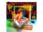 Commerce study circle