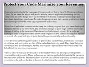 Protect Your Code Maximize your Revenues