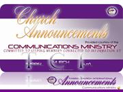 tci church announcements - week of sunday june 5, 2011