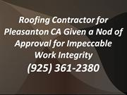 Roofing Pleasanton CA: (925) 361-2380