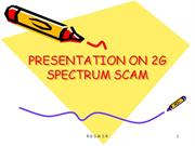 2-G SCAM Presentation