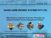 Water Pollution Control Systems By Good Care Enviro System Chennai