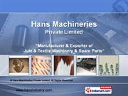 Industrial Alluminium Components By Hans Machineries Private Limited