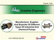 Submersible Pump By Creative Engineers Ahmedabad