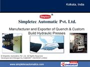 Three Station Hydraulic Quench Presses By Simpletec Automatics Pvt.