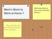 Moms Work at Home