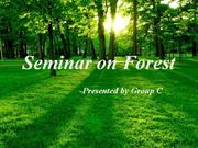 Seminar on Forest Modified